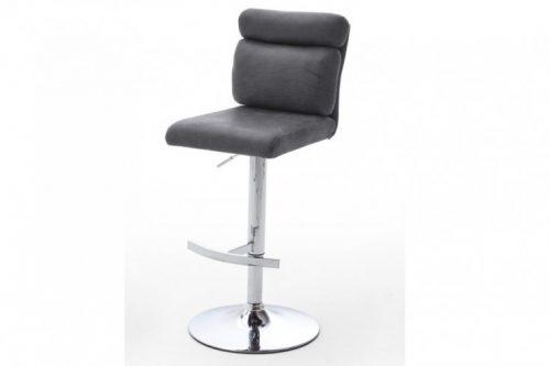 Krzesło barowe COMFORT Vintage szare