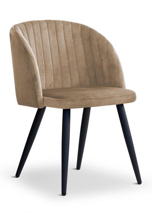 krzesło ADELE brązowe, nowoczesne, klasyczne, czarne nogi