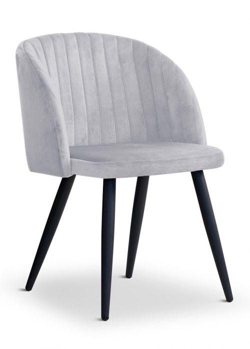 krzesło ADELE jasno szary, nowoczesne, klasyczne, czarne nogi