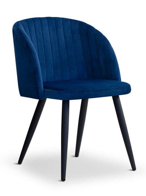 Krzesło ADELE granatowe, nowoczesne, klasyczne, czarne nogi