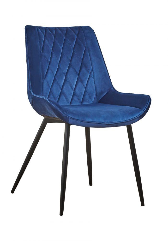 krzesło niebieskie DUBAI pikowane, klasyczne design