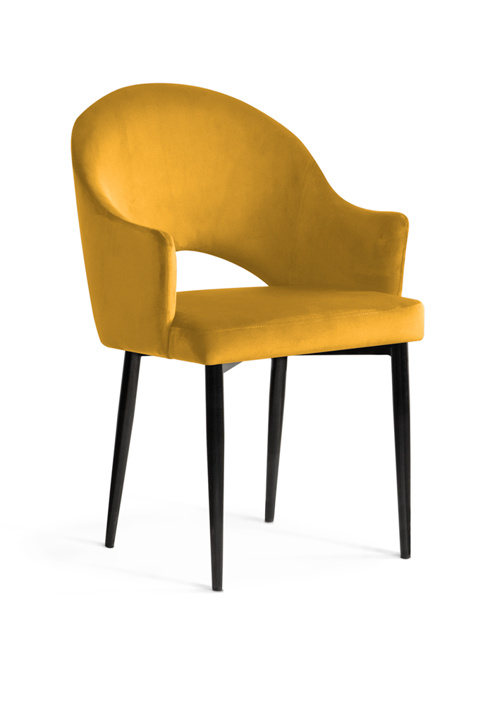 krzesło GODA miodowe, czarne nogi, klasyczne ,eleganckie
