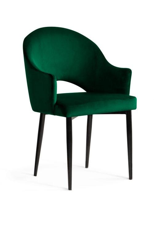 krzesło GODA zielone, czarne nogi, klasyczne ,eleganckie