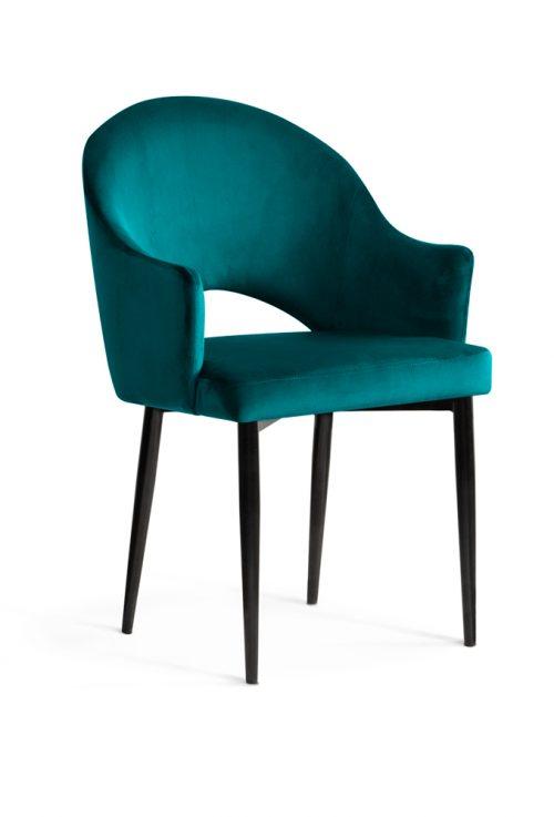 krzesło GODA turkusowe czarne nogi, klasyczne ,eleganckie