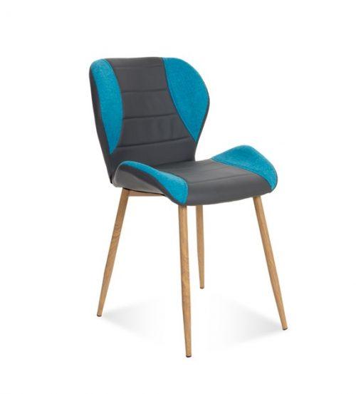 krzesło GUCIO tapicerowane szaro-niebieskie