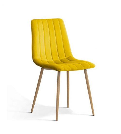 Krzesło TUKS vintage musztardowy
