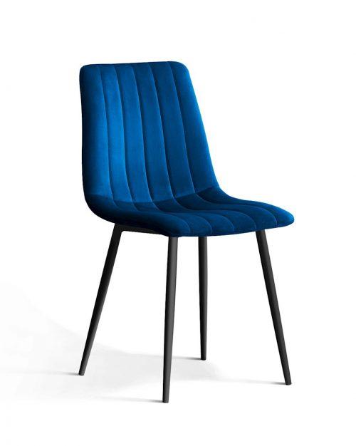 Krzesło TUKS vintag niebieskie noga czarna