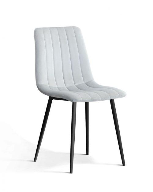 krzesło tapicerowane TUX srebrne , klasyczne, design