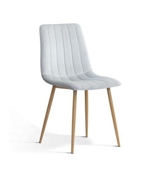 Krzesło TUKS vintag srebrne