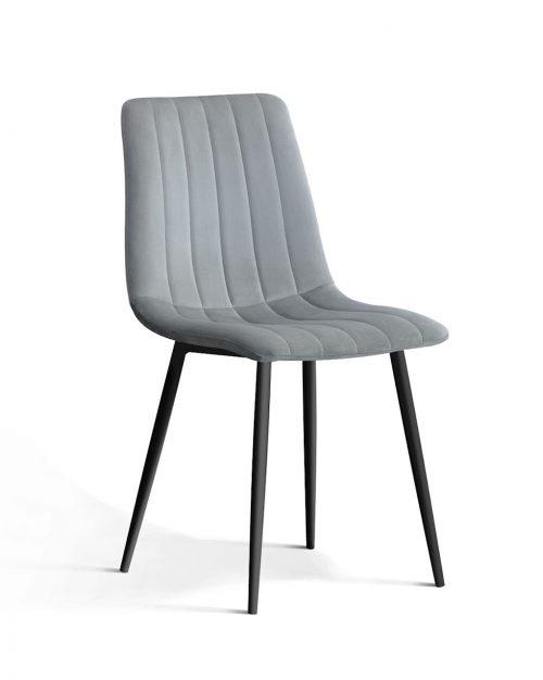 krzesło tapicerowane TUX szare , klasyczny design