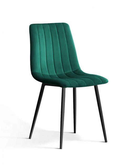 Krzesło TUKS vintag zielony noga czarna