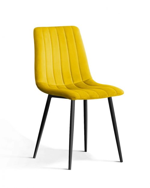 Krzesło TUKS vintage musztardowy noga czarna