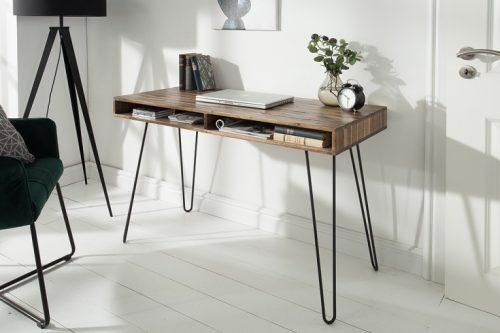 Masywne biurko SCORPION 100cm drewno Akacjowe