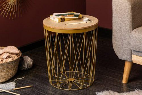 Stolik kawowy STORAGE II w kolorze złotym