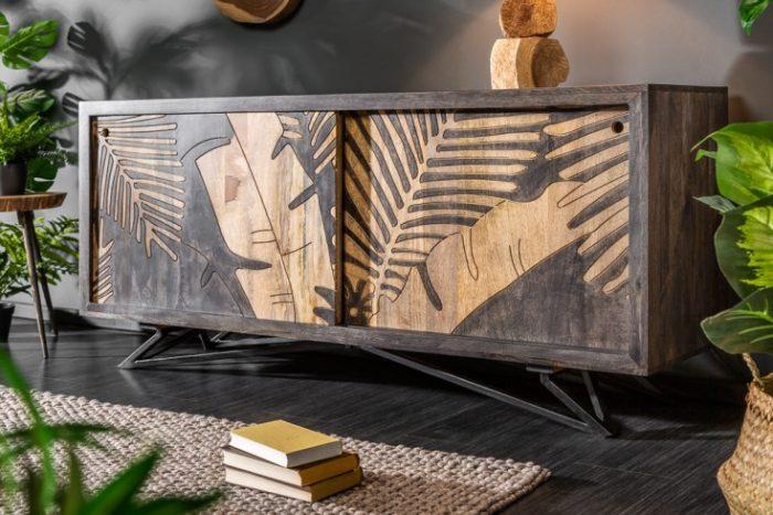 Solidny kredens TROPICAL 160cm Mango drewno płozy
