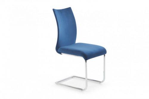 Stylowe krzesło na płozach Suave niebieskie