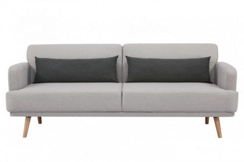 Elegancka rozkładana sofa 3-osobowa STUDIO 214 cm szara