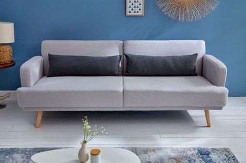 Sofa 3-osobowa STUDIO 210 cm szara rozkładana