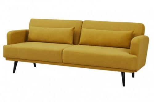 Sofa 3-osobowa STUDIO 210 cm żółta rozkładana