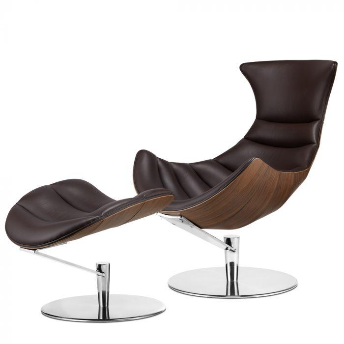Fotel Vastoni z podnóżkiem