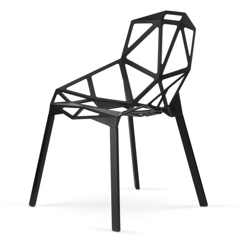 Krzesło designerskie  Caronia Czarne