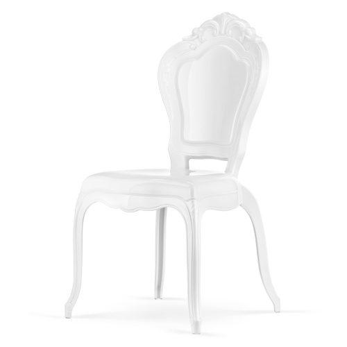 Krzesło Latina bez podłokietników Louis Ghost