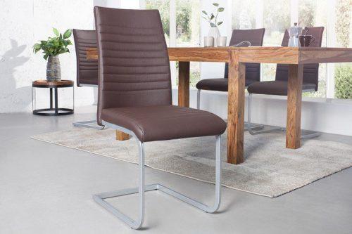Nowoczesne krzesło APPARTMENT brązowe