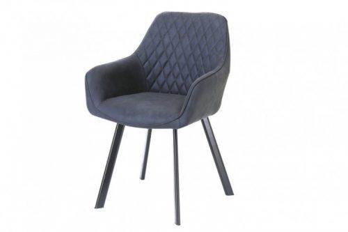 Krzesło retro PALERMO antracytowe z podłokietnikiem