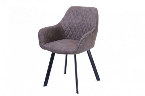 Krzesło retro PALERMO taupe z podłokietnikiem