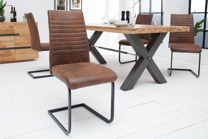 Nowoczesne krzesło APPARTMENT antyczny brąz