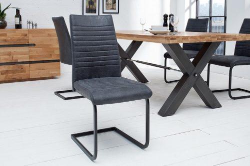 Nowoczesne krzesło APPARTMENT antyczny szary