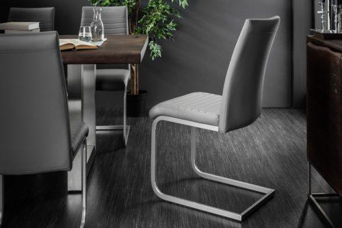 Nowoczesne krzesło APPARTMENT szare
