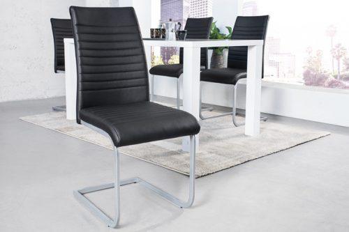 Nowoczesne krzesło APPARTMENT czarne