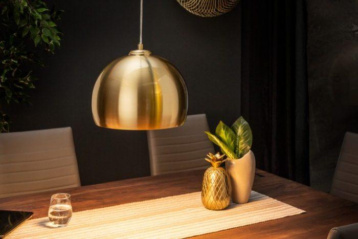 Nowoczesna lampa wisząca Golden Ball złota