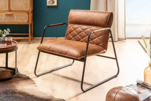 Fotel MUSTANG antyczna jasnobrązowa retro