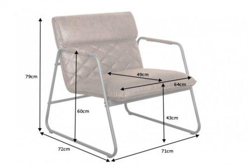 Fotel MUSTANG retro antyczny brąz