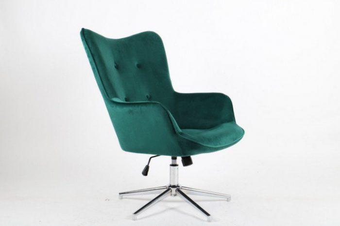 Elegancki fotel obrotowy MR.  zielony regulowany