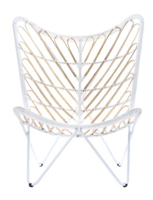 Białe krzesło Papilio designerskie