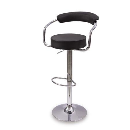 Komfortowe krzesło barowe hoker regulacja wysokości czarny