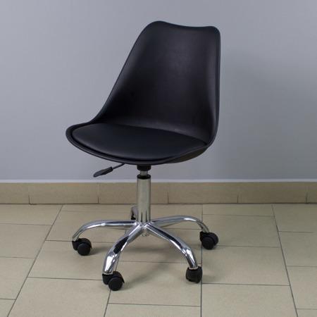 Krzesło fotel obrotowy biurowy z regulowaną wysokością czarne