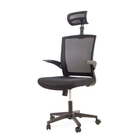 Krzesło obrotowe biurowe fotel na kółkach czarne