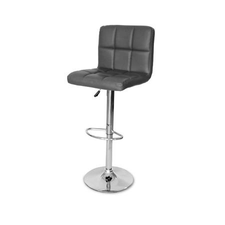 Eleganckie Krzesło obrotowe hoker z podnóżkiem ciemno szare