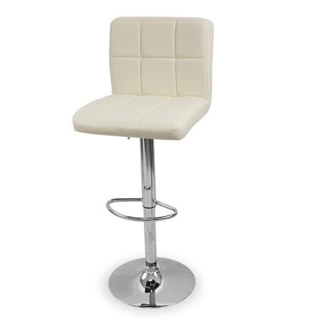 Eleganckie Krzesło obrotowe hoker ecru