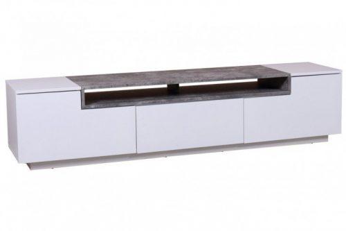 TV Lowboard LOFT 180 cm biały mat element betonowy