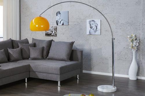 Nowoczesna lama podłogowa Lounge Deal 175-205 Pomarańczowa