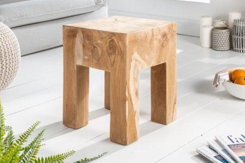 Masywny stolik MOLAR 35 cm naturalny tek