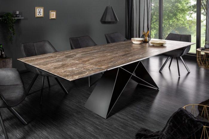 Nowoczesny stół PROMETHEUS 180-220-260cm brązowy