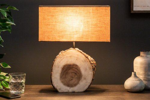 Naturalna lampa stołowa PURE NATURE 46 cm drewno orzechowe
