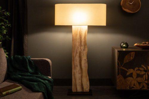 Naturalna lampa podłogowa ORGANIC LIVING 147 cm drewno orzechowe