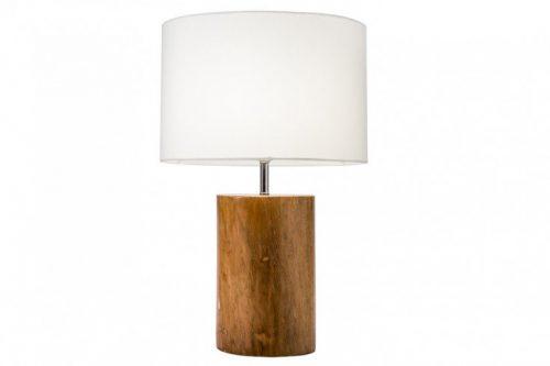 Naturalna lampa stołowa PURE NATURE 57 cm mahoń z abażurem lnianym